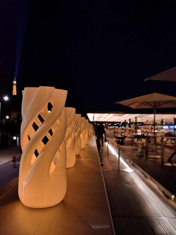 Abbracciame Candle for tealight by David Bitton & Adriano Alfaro @ Fluctuart rooftop