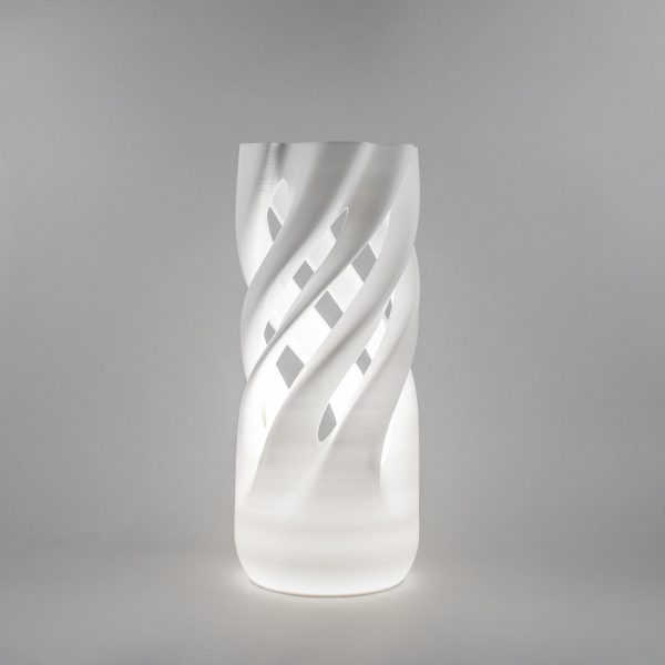 Abbracciame 3D printed vase with light