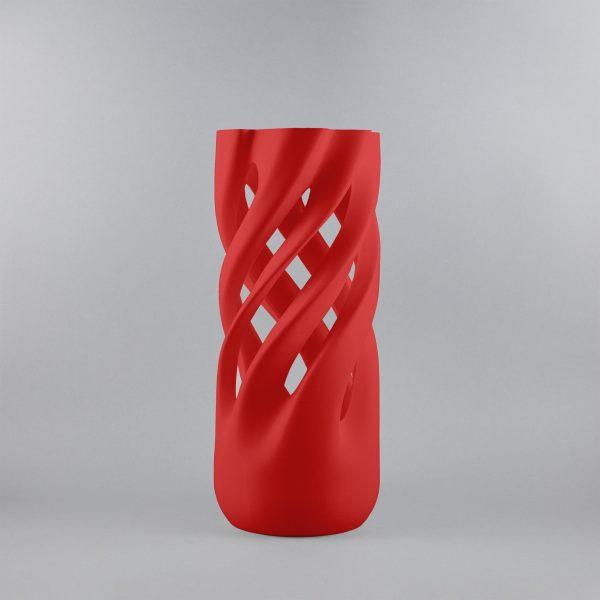 Abbracciame 3D printed vase in red